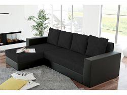 Smartshop Rohová sedačka ERON 1, univerzální, černá/černá ekokůže
