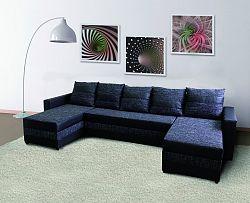 Smartshop Rohová sedačka FUGAZI, černá/černá ekokůže