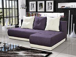 Smartshop Rohová sedačka INSIGNIA 14, fialová/krémová