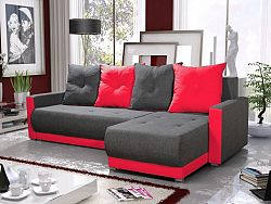 Smartshop Rohová sedačka INSIGNIA BIS 17, šedá/červená