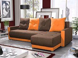 Smartshop Rohová sedačka INSIGNIA BIS 19, hnědá/oranžová