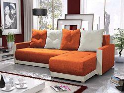Smartshop Rohová sedačka INSIGNIA BIS 20, oranžová/krémová