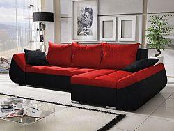 Smartshop Rohová sedačka KORFU 3, červená/černá
