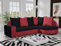 Smartshop Rohová sedačka LIZBONA 9 pravá, černá/červená