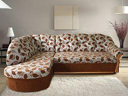 Smartshop Rohová sedačka SANTI, levá, látka: DEXTER hnědá