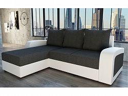 Smartshop Rohová sedačka SEVILLA, tmavě šedá/bílá ekokůže