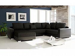 Smartshop Rohová sedačka STILLO 2, univerzální, černá látka/černá ekokůže