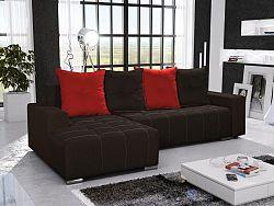 Smartshop Rohová sedačka TELO 12 levá, černá/červená