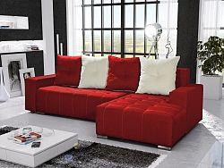 Smartshop Rohová sedačka TELO 4 pravá, červená/krémová