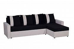 Smartshop Rohová sedačka TICO, univerzální roh, černá/bílá VODĚODOLNÁ LÁTKA