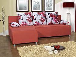 Smartshop Rohová sedačka TORINO, oranžová látka