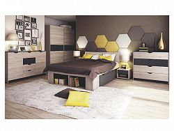 Smartshop ROMA postel 160x200, dub/šedá
