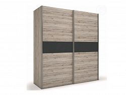 Smartshop ROMA šatní skříň, dub/šedá
