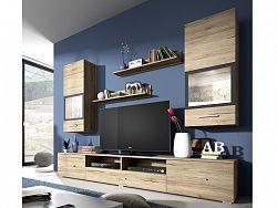 Smartshop SARAH obývací stěna TYP 09, dub san remo světlý/antracit