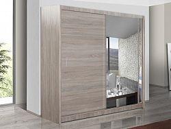 Smartshop Šatní skříň s posuvnými dveřmi VISTA 150, dub sonoma