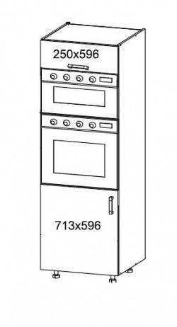 Smartshop TAFNE vysoká skříň DPS60/207O, korpus ořech guarneri, dvířka béžový lesk