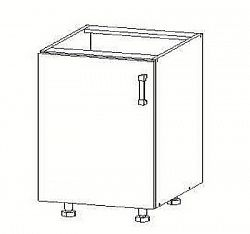 Smartshop TAPO PLUS dolní skříňka D45, korpus bílá alpská, dvířka grafit lesk