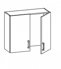 Smartshop TAPO PLUS horní skříňka GC80/72, korpus congo, dvířka bílý lesk