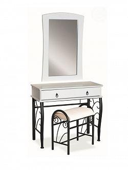 Smartshop Toaletní stolek 1102 s taburetem, bílá/černá