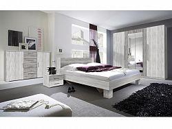Smartshop VERA ložnice s postelí 180x200, borovice canyon světlá/borovice canyon tmavá