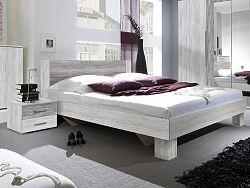Smartshop VERA postel 160x200 cm s nočními stolky, borovice canyon světlá/borovice canyon tmavá