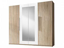Smartshop VIERA skříň se zrcadlem, dub sonoma/bílá