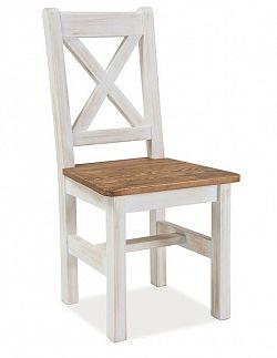 Smartshop Židle Poprad, masiv v barvě ořech/bělená borovice
