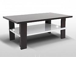 Tempo Kondela ANATOL konferenční stolek, wenge/bílý lesk