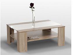 Tempo Kondela ARIADNA konferenční stolek, dub sonoma/bílý lesk