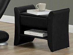Tempo Kondela BOLTON čalouněný noční stolek, černá