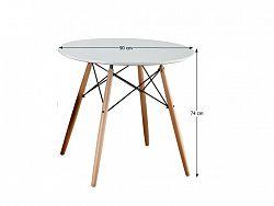 Tempo Kondela Jídelní stůl GAMIN 90, bílý/buk