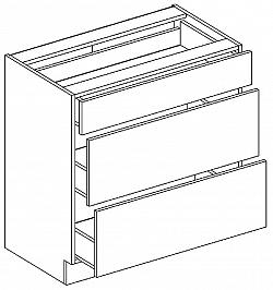 Tempo Kondela JURA NEW B, dolní skříňka D-80 S3, bílá/wenge