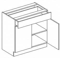 Tempo Kondela JURA NEW I, dolní skříňka D-80 S1, rigoleto dark