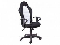 Tempo Kondela Kancelářská židle SENON, černá/bílá