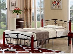 Tempo Kondela MAGENTA kovová postel s roštem 140x200 cm, dub