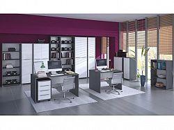Tempo Kondela RIOMA kancelářská sestava, grafit/bílá