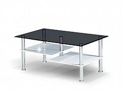 Tempo Kondela SVEN konferenční stolek, ocel/sklo