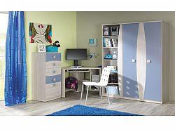 TENUS dětský pokoj, dub santana/modrá