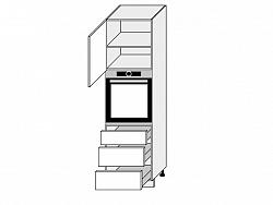 TITANIUM, skříňka dolní D14RU/3H, korpus: grey, barva: fino bílé