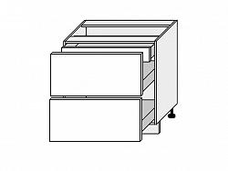 TITANIUM, skříňka dolní D2A 80/1A, korpus: bílý, barva: fino bílé