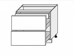 TITANIUM, skříňka dolní D2A 90/1A, korpus: grey, barva: fino bílé