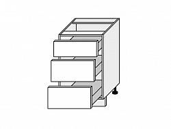 TITANIUM, skříňka dolní D3H 50, korpus: bílý, barva: fino černé