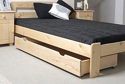 Úložný prostor pod postel 150 cm, masiv borovice, (šxhlxv): 150x57x19,5 cm