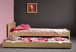 Úložný prostor pod postel 200 cm, masiv borovice, moření: ...