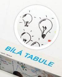 Bílá nalepovací tabule 90x200cm - Nalepovací tabule