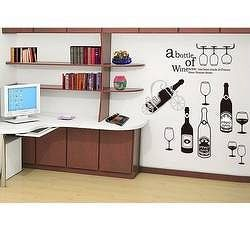 Dekorace na zeď - Láhve vína - Nalepovací tabule