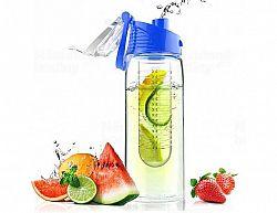 Designová fresh láhev s infuserem ASOBU Flavour It modrá 600ml