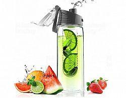 Designová fresh láhev s infuserem ASOBU Flavour It šedá 600ml