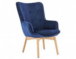 Designové křeslo FODIL, modrá Velvet látka