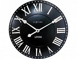 Designové nástěnné hodiny 3083zw Nextime v anglickém retro stylu 35cm